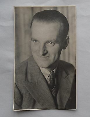 1950s Mens Suits & Sport Coats | 50s Suits & Blazers 1950s B/W Photograph. Portrait of a Man in Suit & Tie (Deptford, London SE8) $6.97 AT vintagedancer.com