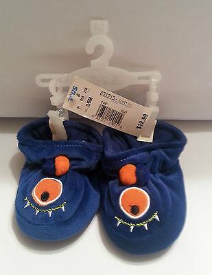 New Koala Kid Cute Blue 1 Eye Monster Halloween Slippers 0-6 months Baby Infant](Halloween Slippers)