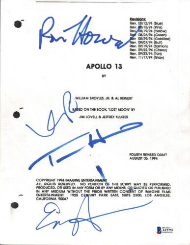 Apollo 13 Cast Signed Autograph Script Ron Howard Tom Hanks Harris Bacon BAS COA