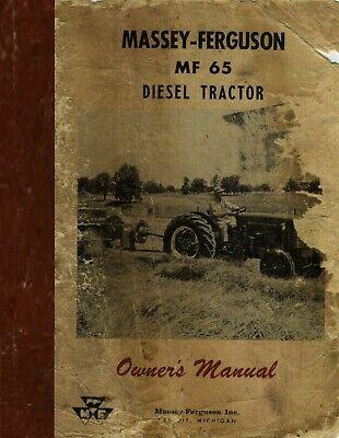 Massey Ferguson 65 Mf65 Diesel Owners Instruction Operators Maintenance Manual