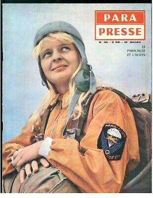 PARA PRESSE REVUE DE PARACHUTISTES FRANCAIS N. 43 1961 PARACADUTISMO AERONAUTICA