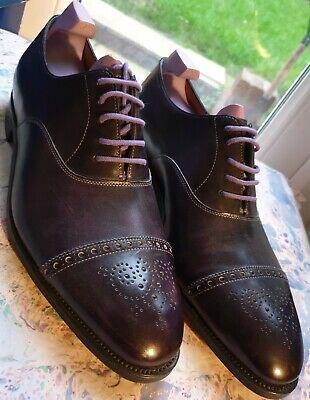 Paul Smith John Lobb Mens Shoe Westbourne All Leather UK 9.5 EU43.5 Iris Purple