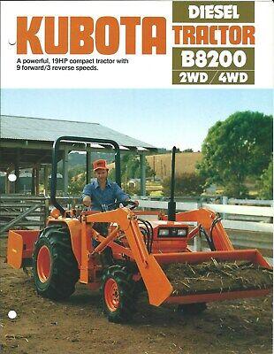 Equipment Brochure - Kubota - B8200 - Diesel 2wd 4wd Tractor Farm Lawn E5466