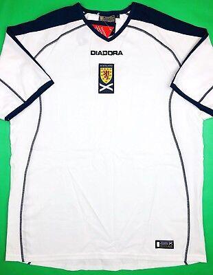 NWT SCOTLAND 2003/05 L Away Diadora Soccer Jersey Football Shirt SFA Scottish image