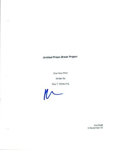 Dominic Purcell Signed Autographed PRISON BREAK Pilot Episode Script COA AB