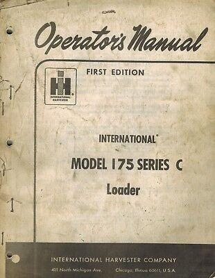 International Vintage 175 Series C Crawler Loader Operators Manual