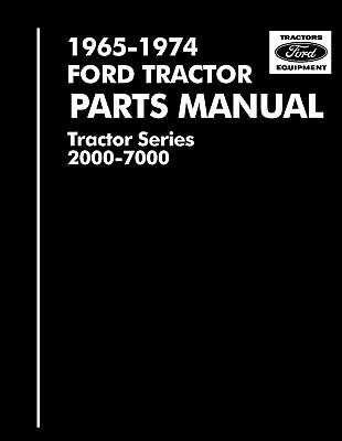 Ford 2000 3000 4000 5000 7000 3400-5550 Tractor Parts Manual 1965-1975