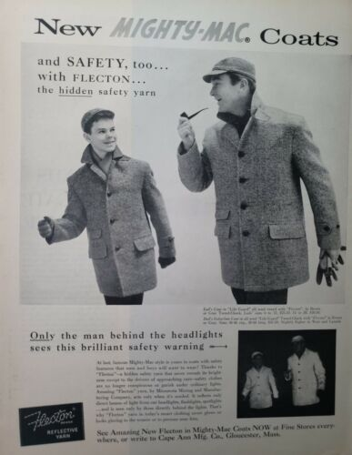Vintage 1948 Mighty Mac Coats Print Ad Ephemera Wall Art Decor Flecton