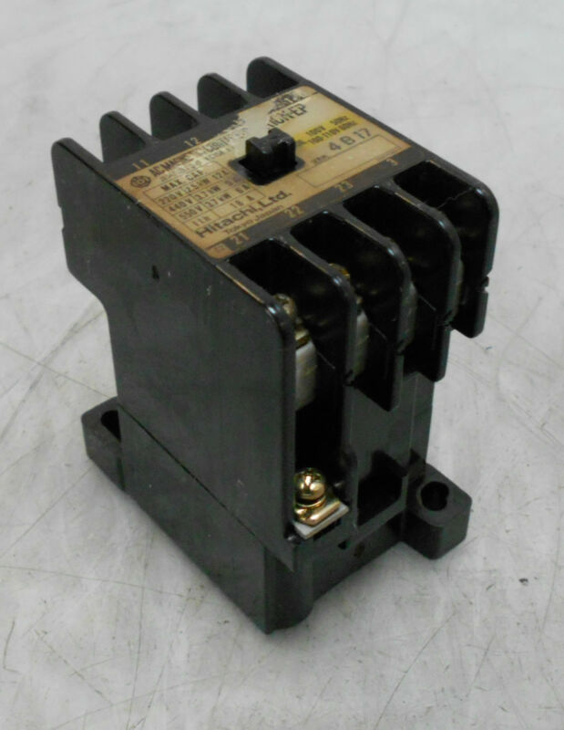 Hitachi AC Magnetic Contactor, K10N-EP, 110V Coil, Used, Warranty