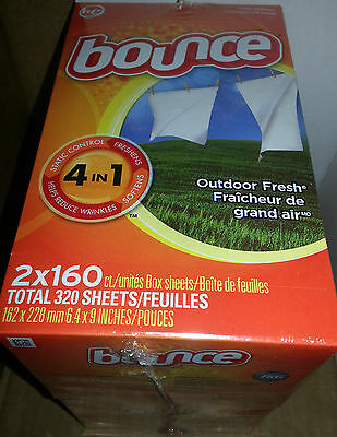 Fabric Softening Sheets - BOUNCE FABRIC SOFTENER DRYER SHEETS BIG 320ct BOXES SALE!
