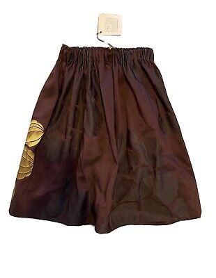 NWT $110 La Bottega Di Giorgia Size 8 Skirt Mary Burgundy Gold Jacquard Holiday