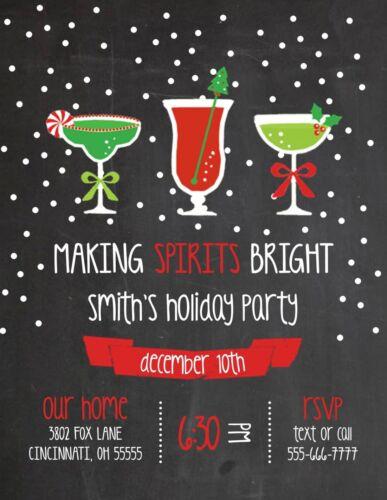 Making Spirits Bright Holiday Christmas Party Invitation