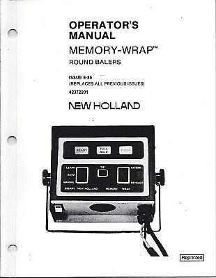 New Holland 848853855 Round Baler Operator Manual Memory Wrap 42372201