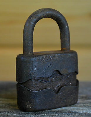 Old, vintage iron padlock - rustic, garden decor