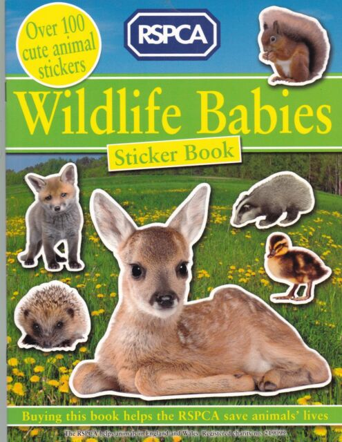 Wildlife Babies Sticker Book (RSPCA) New Book - over 100 Stickers