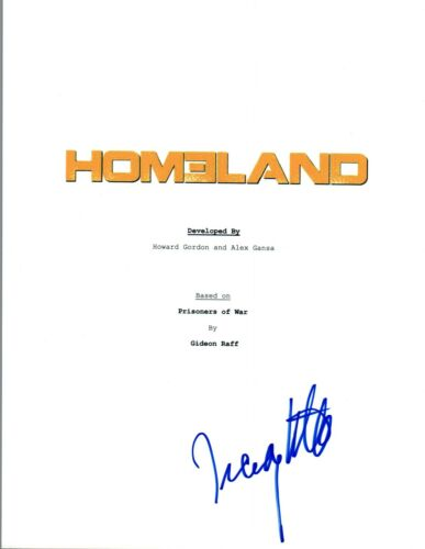 Tracy Letts Signed Autographed HOMELAND Pilot Episode Script COA VD