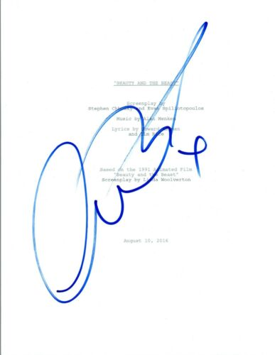 Luke Evans Signed Autographed THE BEAUTY & THE BEAST Full Movie Script
