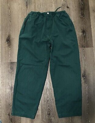 VTG Vintage 90s Nautica Sport Tech Men's Baggy Khakis Pants Size Large Green