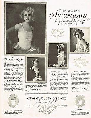 1920s BIG Vintage Chas Debevoise Lingerie Clothing Fashion Photo Print Ad