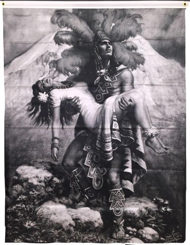Aztec Flag Banner/ La Mujer Dormida Banner/Flag