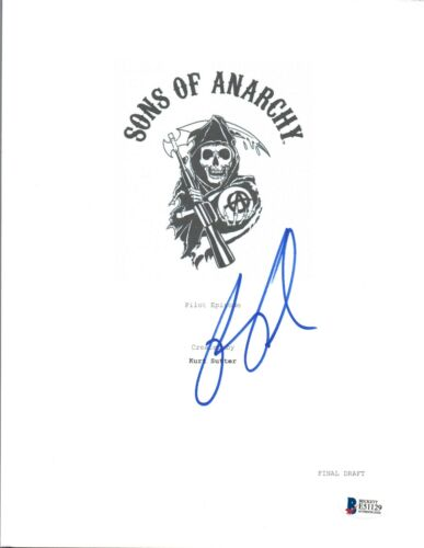 Ron Perlman Signed Autograph SONS OF ANARCHY Pilot Script Beckett BAS COA