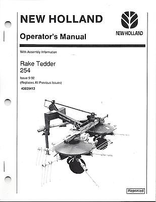New Holland 254 Tedder Operator Manual With Assy Information 43025413