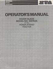 1987 HONDA DOZER BLADE MODEL NO.DB752A for RT5000 TRACTOR