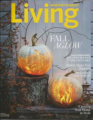 Martha Stewart Living October 2018  Fall Aglow Halloween Magic Cozy Up Yout Home](Martha Stewart Living Halloween)