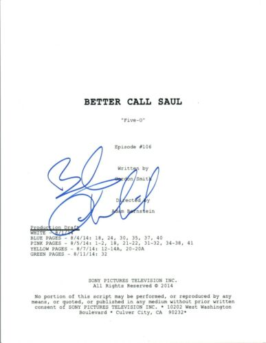 Bob Odenkirk Signed Autographed BETTER CALL SAUL Five-O Episode Script COA