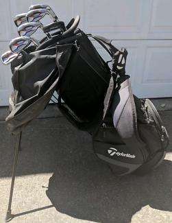 Taylor Made Aeroburner iron set + Golf bag + Odyssey putter