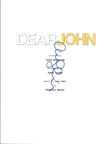 Amanda Seyfried Signed Autographed DEAR JOHN Movie Script COA VD