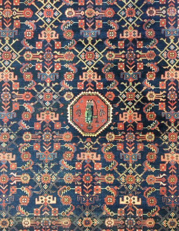 Tremendous Tribal - 1910s Antique Oriental Rug - Nomadic Carpet - 4.9 X 6.5 Ft