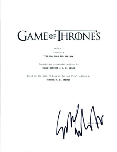 Sibel Kekilli Signed Autographed Game of Thrones S2 E6 Episode Script COA VD