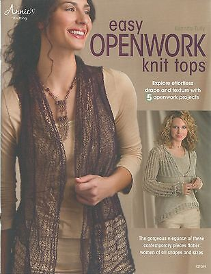 Easy Openwork Knit Tops Women's Sweater Knitting Patterns Annie's Booket NEW