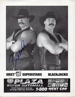 JBL SIGNED WWF WWE WRESTLING PROMO PHOTO BRADSHAW APA ACOLYTES THE BLACKJACKS