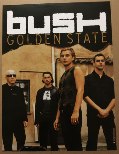 Gavin Rossdale BUSH Rare 2001 PROMO POSTER for Golden CD 18x24 NEVER DISPLAYED