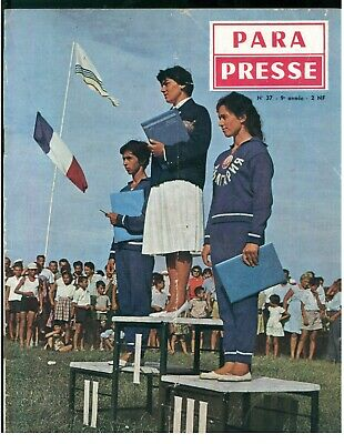 PARA PRESSE REVUE DE PARACHUTISTES FRANCAIS N. 37 1960 PARACADUTISMO AERONAUTICA