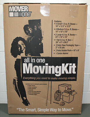 Schwarz Supply Mover One Large Moving Box Kit Sp-907 Boxes Tape Bubble Pack