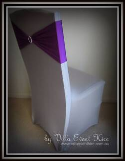 Silver Lycra Chair Covers for hire
