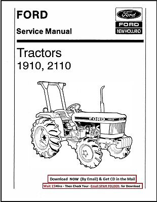 Ford 1910 Compact Tractor Service Repair Shop Technical Manual