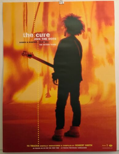 """RARE The Cure Join The Dots 18""""x24"""" Promo Poster 2004 Fiction/Rhino EXC VG COND"""