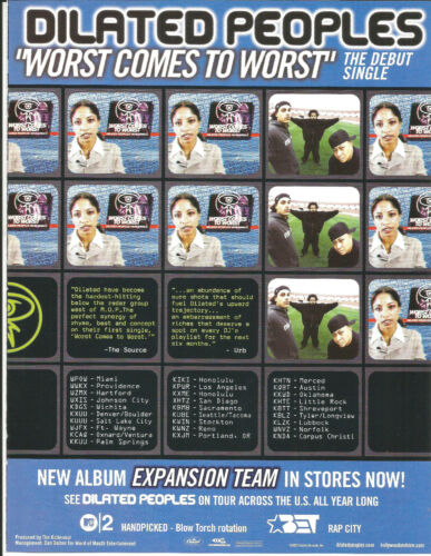 DILATED PEOPLES Rare 2001 Worst PROMO TRADE AD Poster for Expansion CD MINT USA