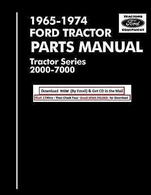 1965-1974 Ford Tractor Parts Catalog 2000 3000 4000 5000 7000 Cd
