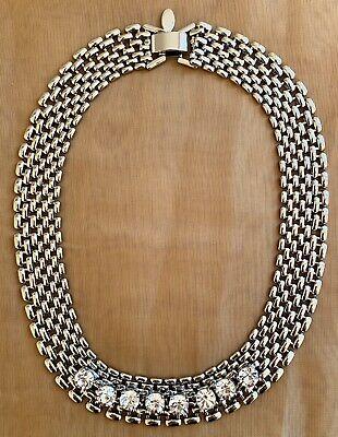 ANN TAYLOR Statement Necklace Crystal Bib Necklace Crystal Bib Statement Necklace