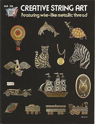 Creative String Art Instruction Patterns Vintage 1975 Hazel Peterson HA 30 NEW