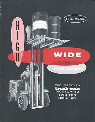 Fork Lift Truck Brochure - Truck-man - Y-40 - Two Ton High Lift Lt368