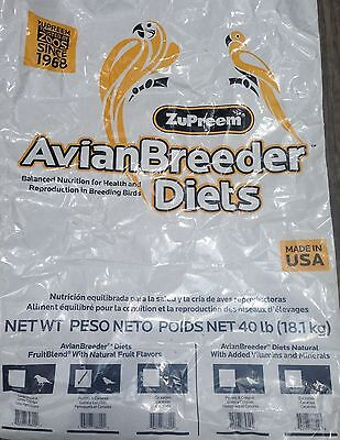 Zupreem Fruitblend ML Breeder ML Parrot Conure pelet diet bird food fruit 40lb
