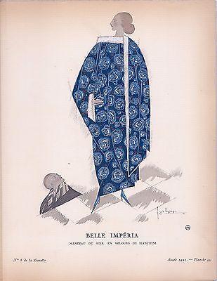 Georges Lepape  Gazette Du Bon Ton  Belle Imperia  1921