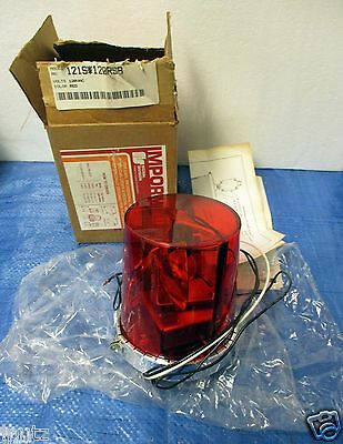 Red Rotating 120v Beacon Light By Federal Signal Corporation 121s120rsb New