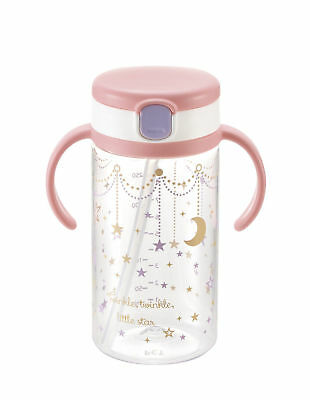 Richell Baby water bottle Aqulea Straw Mug Cup 320ml Pink Japan